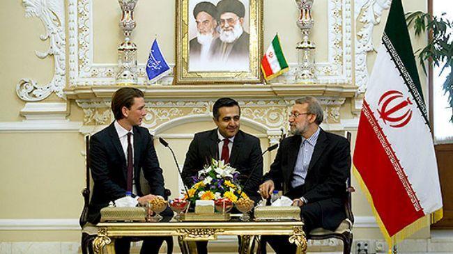 Iran-Austria-Ali Larijani-Sebastian Kurz