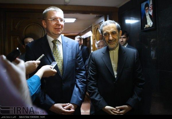 Iran - Litvia - Velayati and Rinkevich meeting