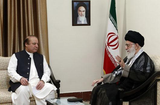 Ayatollah Seyed Ali Khamenei - Nawaz Sharif