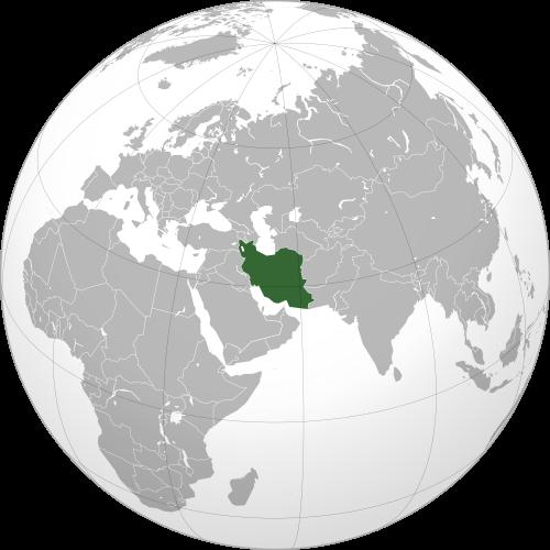 Iran in world map