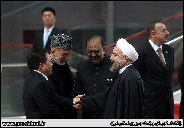 Iran President Hasan Rouhani and CICA conference in China