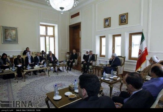 Zarif and Speaker of Slovenian Parliament
