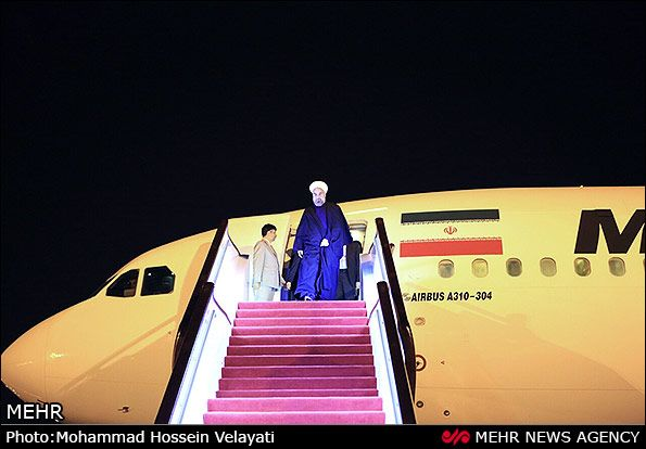 Iran President Hasan Rouhani in China