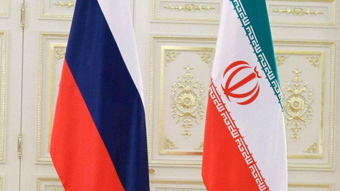 russia - iran flags