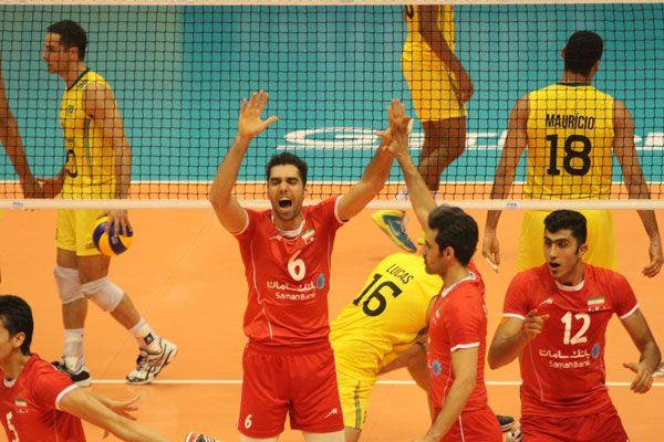 Iran and Brazil Valleyball match in Brazil