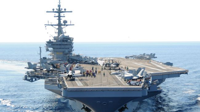 US warship, 50 fighter jets ready in Persian Gulf as Iraq crisis escalating
