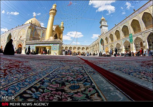 holy shrine in Iranq