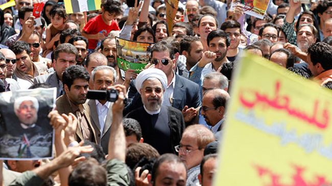 Rouhani at Quds Day 2014