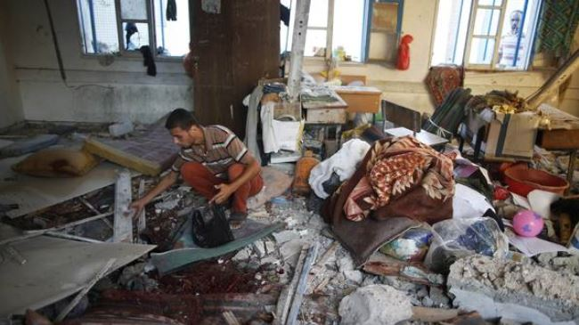 Israeli Attacking UN-school in Gaza