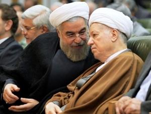 Hassan Rouhani and Ali Akbar Hashemi