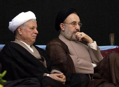 Mohammad Khatami and Hashemi Rafsanjani
