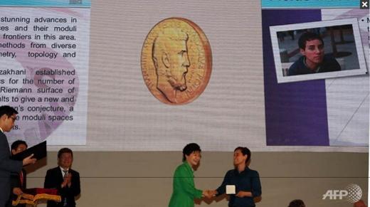 Iranian woman Maryam Mirzakhani wins Nobel Prize of mathematics