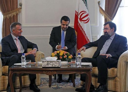 Mohsen Rezaei and Austrian Ambassador to Tehran Friedrich Stift in meeting