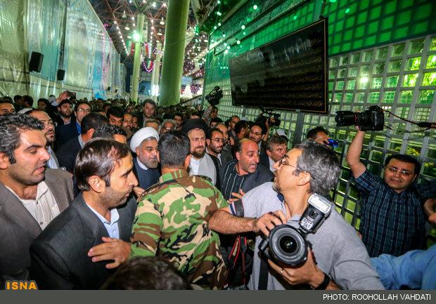 Rouhani at Imam Khomeini Mausoleum