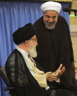 Supreme Leadr and Rouhani