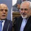 Zarif and Al-Abadi meeting in Iraq