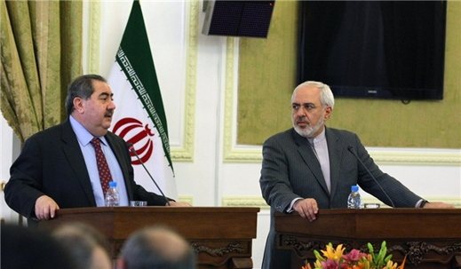 Zarif and Zebari meeting