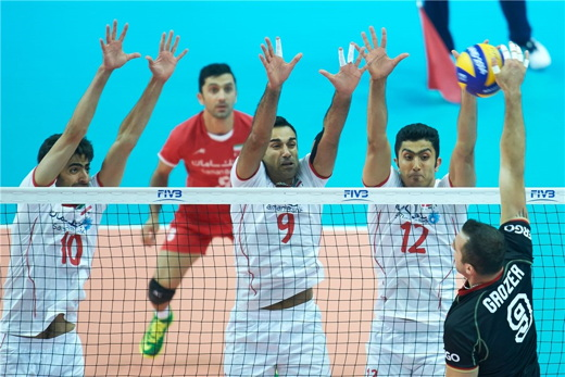 IRan Volleyball Team and Germany