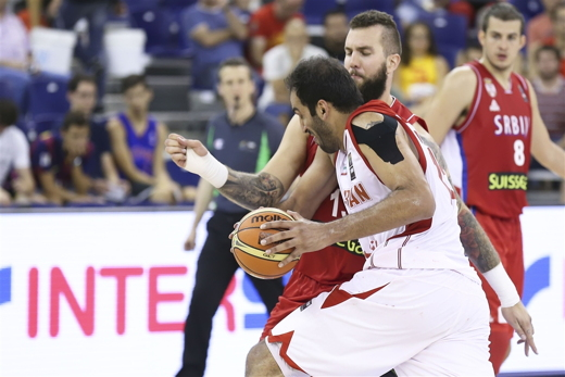 Iran And Serbia Basketball