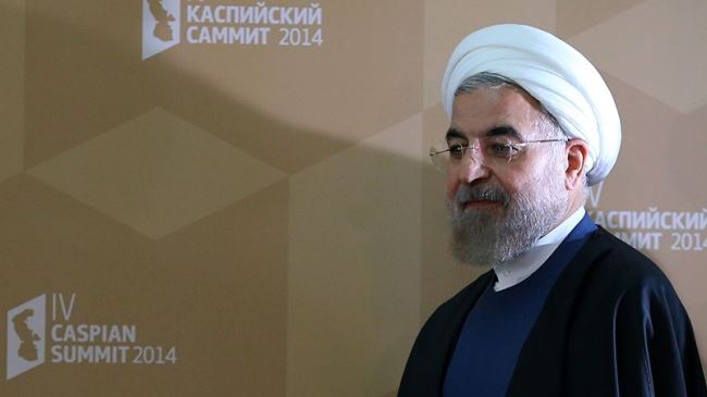 Iran-Hassan-Rouhani-caspian sea