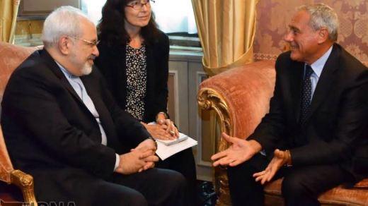 Iran-Italy-Zarif-Senate Pietro Grasso