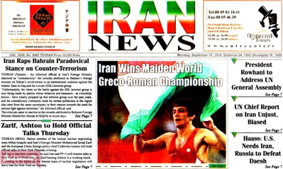 Iran News newspaper-09-15