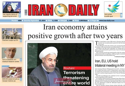 Iran daily newspaper sept. 27