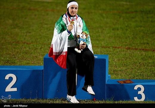 Rajabi, an Iranian female athlete