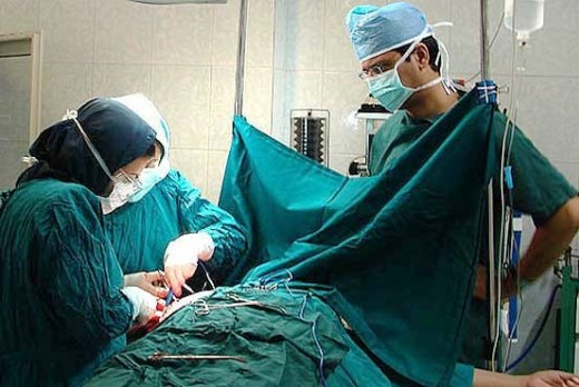 Kidney donation surgery