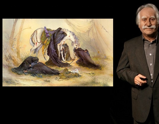 Master Mahmoud Farshchian, a world-famous Iranian painter