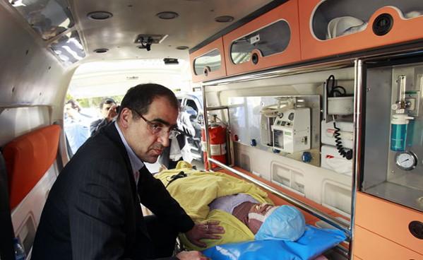 Iran Health minister acid attacks