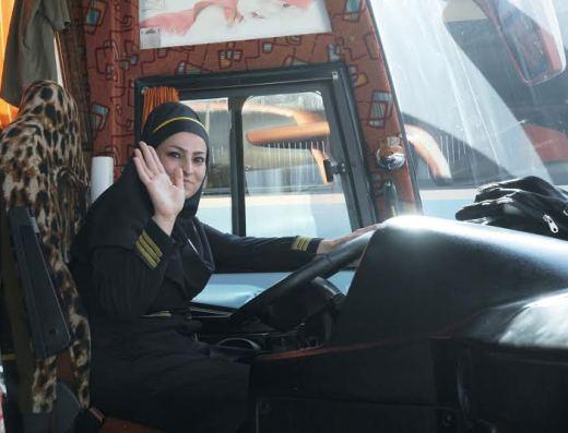 Iranian bus driver woman