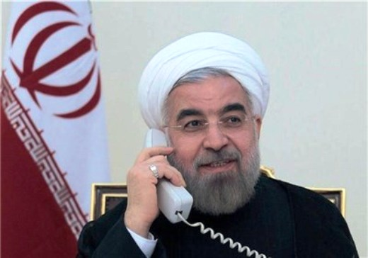 Rouhani on the phone