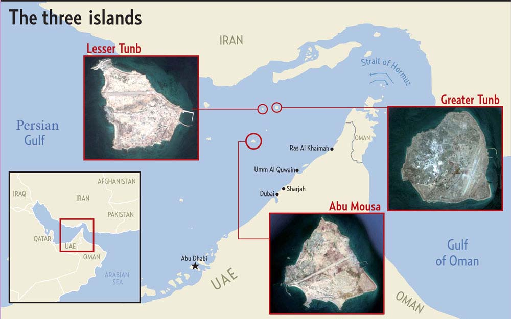 Persian Gulf - Abu Mousa - Lesser and Greate Tunb islands