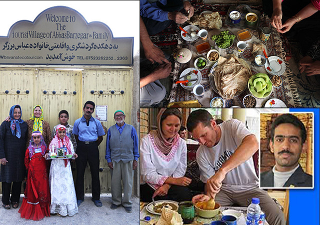 Abbas Barzegar in the village of Bazm in Fars Province