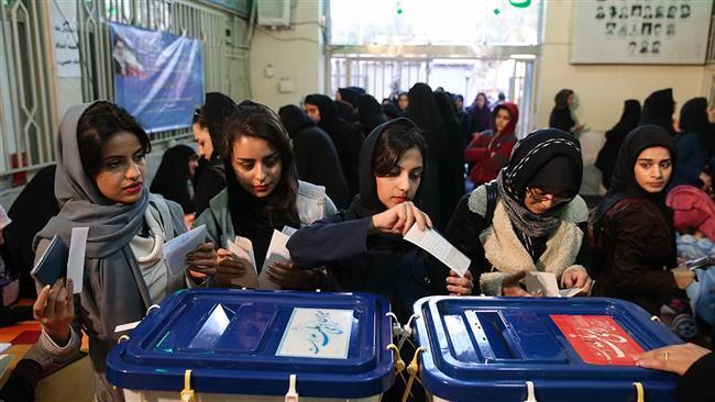 Iranian girls voting