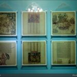 An exhibition of single-page excerpts from various Shahnameh manuscripts in the Malek Museum, Tehran.