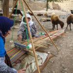 Iranian women weaving Jajim