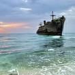 Beached Greek Ship