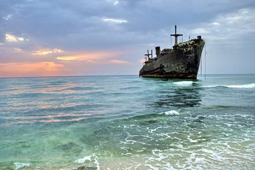 Beached Greek Ship