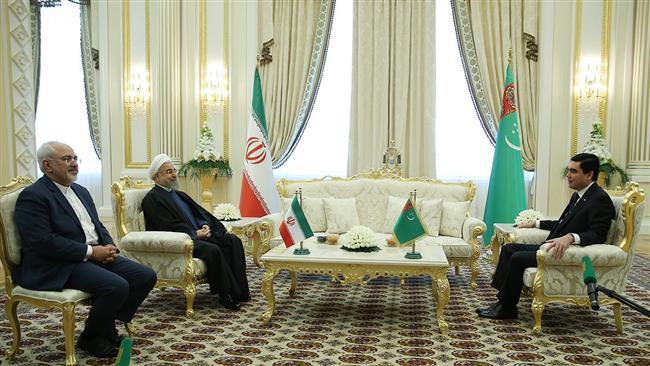 Iran-Turkmenistan-Rouhani-Zarif