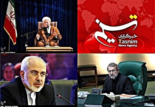 Tasnim-Rafsanjani-Larijani-Zarif-1