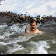 man swims-1