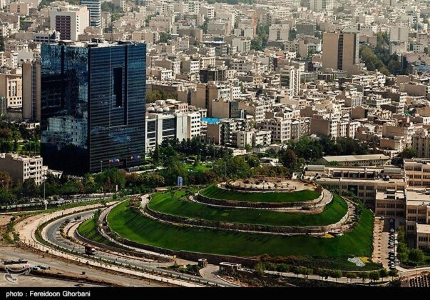 Tehran from its tallest flagpole