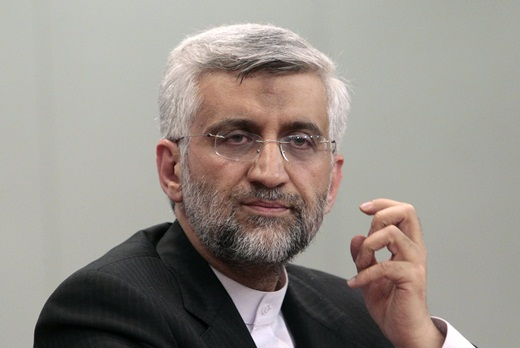 Iran's Chief Negotiator Saeed Jalili meets with reporters in Moscow