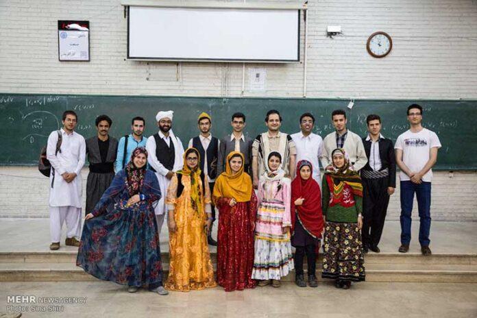Dressed in local costumes