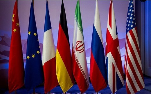 Iran Talks Flags
