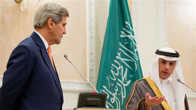 US Secretary of State John Kerry (L) and Saudi Foreign Minister Adel al-Jubeir during a joint press conference in Riyadh on May 7, 2015 ©AFP