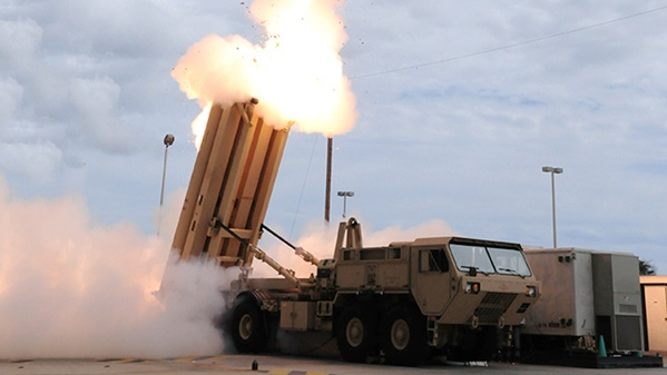 This handout image courtesy of the US MIssile Defense Agency shows the launch of the Terminal High Altitude Area Defense (THAAD) missile during a test. (AFP Photo
