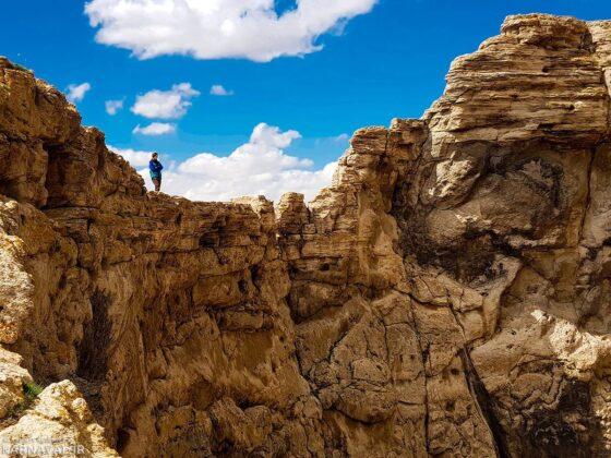 The Crater of Zendan-e-Soleiman (Solomon's Prison) Mountain